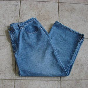 Ninety Jeans Cropped Wide Leg Embroidered Jeans